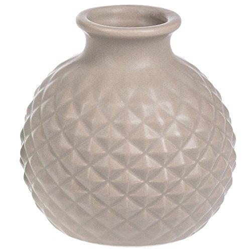 - Ganz Soft Mauve Diamond Pattern Textured 4.25 x 4.25 Ceramic Decorative Vase