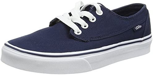 Vans Brigata Leather Plaid Estate Blue Men s Classic Skate Shoes