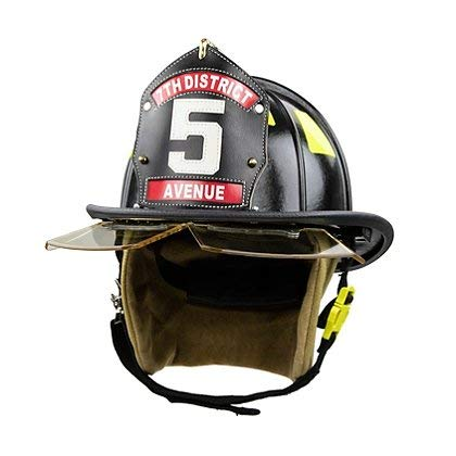 Cairns 1044 Helmet, Black, NFPA, OSHA - 1044 w/Innerzone 2 Goggles, Std, Black (Best Leather Fire Helmet)