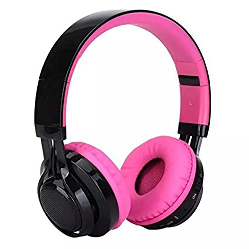 AB005 Wireless Bluetooth Headphone LED Light Stereo (Pink) - 4