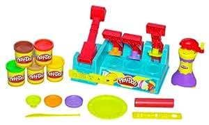 Hasbro 329161010 Play-Doh Maxi Burguer - Juego para preparar hamburguesas (incluye 5 botes de pasta para modelar, no necesita pilas)