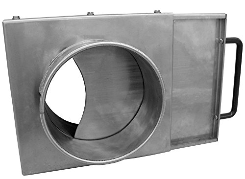 Nordfab Ducting 3240-1200-100000 QF Manual Blast Gate, 12'' dia, Galvanized Steel by Nordfab