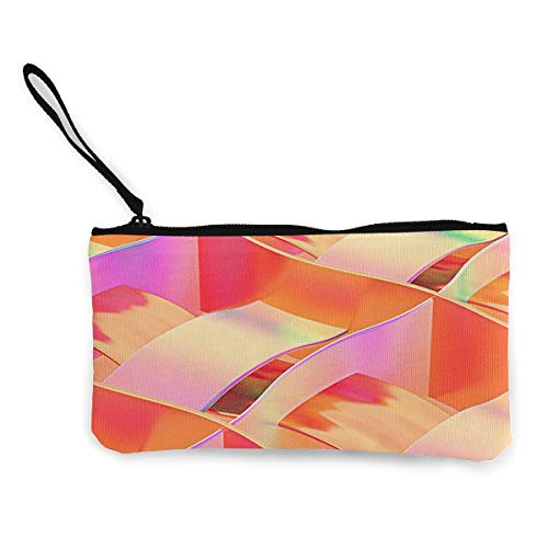 Oomato Canvas Coin Purse Art Paper Red Rainbow Cosmetic Makeup Storage Wallet Clutch Purse Pencil Bag]()