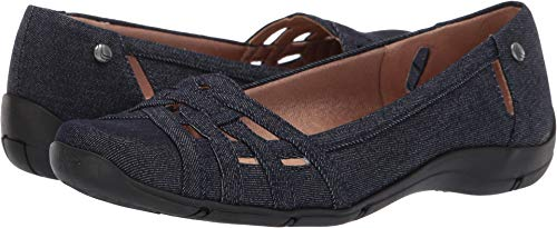 LifeStride Women's Diverse Ballet Flat, Denim, 8.5 M US