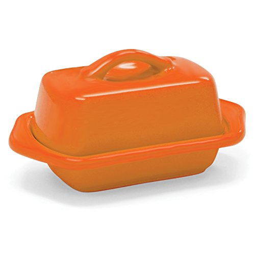 Orange Mini Dish (Chantal Orange Stoneware Mini 5 Inch Butter Dish)