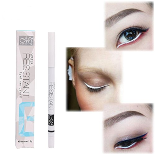 Oksale® 6 Pcs Metallic Shiny Smoky Eyes Eyeshadow Waterproof Glitter Liquid Eyeliner (White)