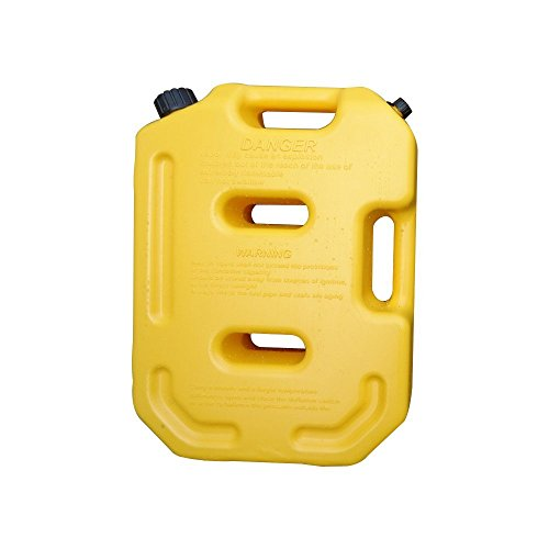 SXMA 10L Fuel Tank Cans Spare 2.6 Gallon Portable Fuel Oil Petrol Diesel Storage Gas Tank Emergency Backup (Pack of 1) Yellow by SXMA (Image #2)