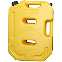 SXMA 10L Fuel Tank Cans Spare 2.6 Gallon Portable Fuel Oil Petrol Diesel Storage Gas Tank Emergency Backup (Pack of 1)Yellow