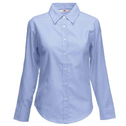 nbsp;ÿ Fruit Oxford Blue the Manches Longues Chemise Loom nbsp;Femme Bleu of gYHqwBY6