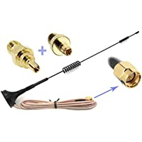 Universal Kit of 3G 4G LTE Dipole Antenna Wide Band 7dBi 698-2700Mhz Omni Directional GSM on Magnetic Base RG316 3ft/36/0.9m Low Loss Cable with SMA Female to TS-9 and CRC9 for any Devices as Verizon