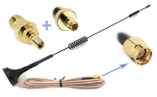 Universal Kit of 3G 4G LTE Dipole Antenna Wide Band 7dBi 698-2700Mhz Omni Directional GSM on Magnetic Base RG316 3ft/36''/0.9m Low Loss Cable with SMA Female to TS-9 and CRC9 for any Devices as Verizon by GP Electric
