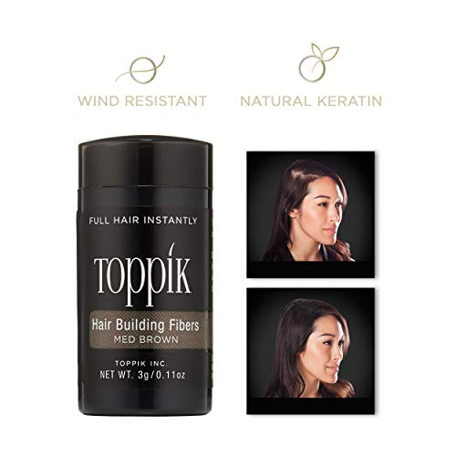 Toppik Hair Building Fibers, Medium Brown, 3G