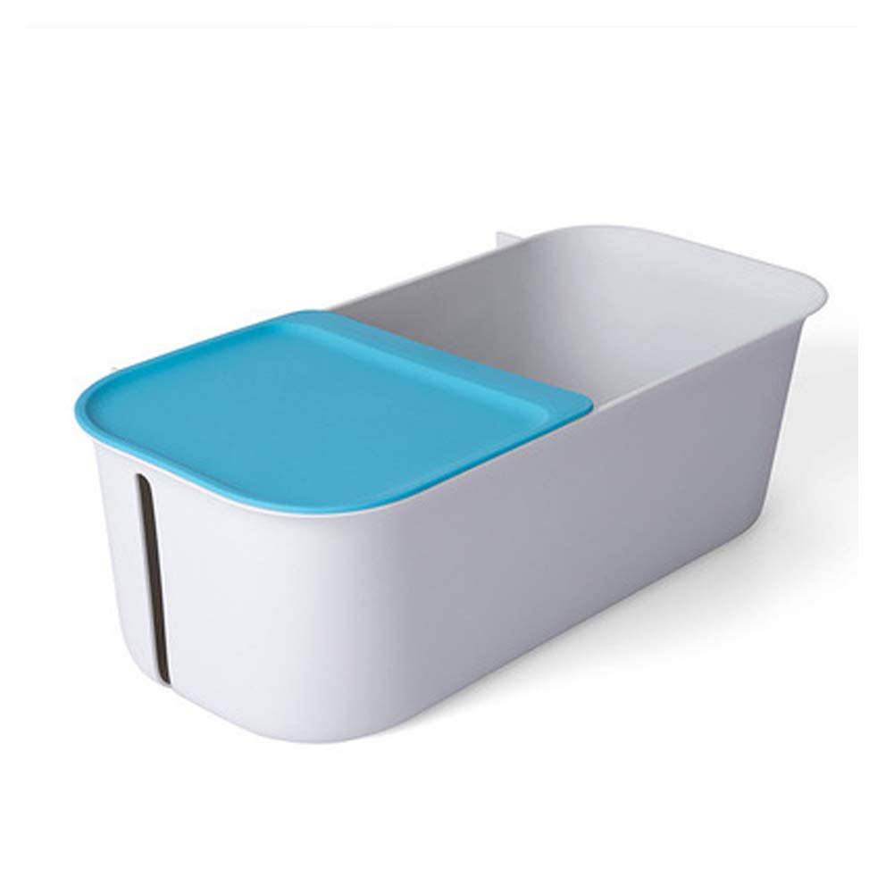 WWWT Creative Simple Toilet Rack, Storage Rack, Large-Capacity Plastic Wall-Mounted Punch-Free Wall Rack-SkyBlue