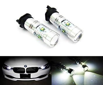 2 bombillas LED de luz blanca PW24W PWY24W Cree para faros delanteros, luz diurna DRL para A3 A4 Q3 F30 C4 208 Golf VII: Amazon.es: Coche y moto