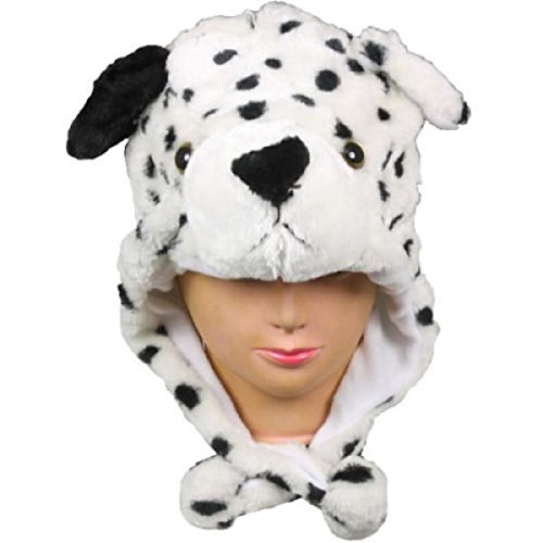 Dalmation Dog_New_Warm Cap Earmuff Gift Cartoon Animal Hat Fluffy Plush Cap - Unisex (US Seller) (Banz Green Hat)