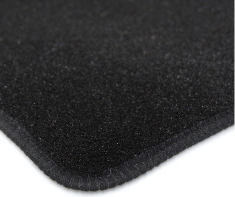 Custom Fit Tailor Made Black Carpet Car Mats for Citroen C1 2014+ Double Drivers Side Protection Heel Pad