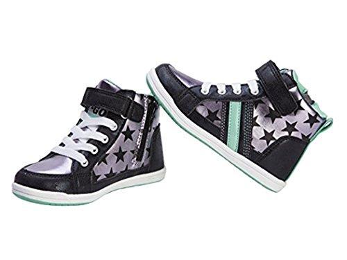 Lupilu Kleinkinder Mädchen Sneakers schwarz/ silber/ grün