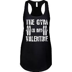 Blittzen Womens Tank The Gym Is My Valentine, M, Black