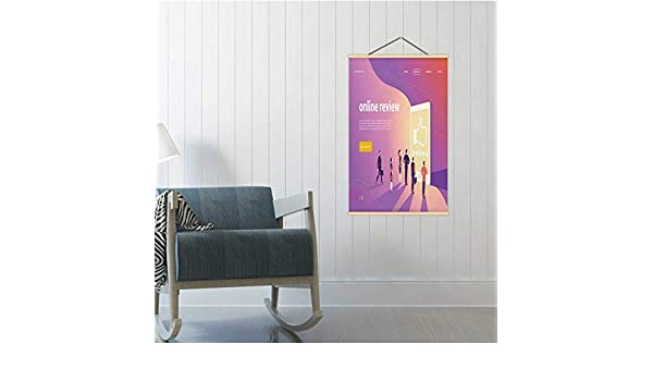 Amazon Com Vector Web Page Concept Design With Online Review Theme Office People Stand At Big Digital Tablet Watch Shining Screen Five Stars Illustration Russia 16 19 24 Poster Frames Customer Poster Board 24
