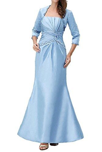 Hell Braut Festlichkleider Hell Bolero Satin Blau Marie Blau mit La AbendkleiderPartykleider Langes Brautmutterkleider 54qE6n