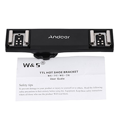 Andoer-Dual-Hot-Shoe-Splitter-Flash-Speedlite-Light-Bracket-for-Canon-7DII-70D-5DR-5DRS-5DIII-6D-DSLR-Camera-Camcorder