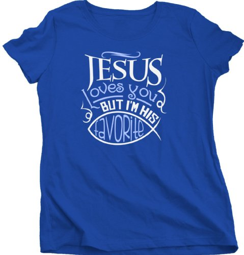 Ann Arbor T-Shirt Co. Women's Jesus Loves You... Cut T-Shirt