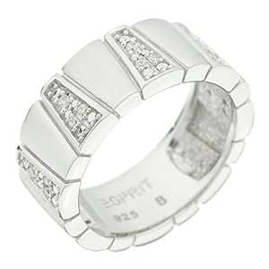Esprit ESRG-91330.A.18 - Anillo de mujer de plata de ley con circonitas (talla: 18)
