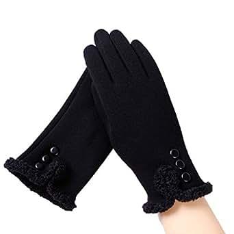 Womens Winter Gloves Wrist Length Warm Mittens Touchscreen