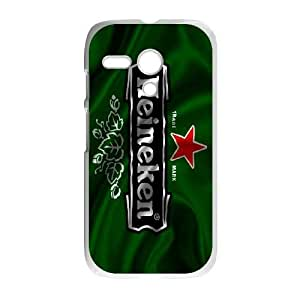 Pattern Hard Case Cover Motorola Moto G Cell Phone Case White Heineken Oakde Back Skin Case Shell