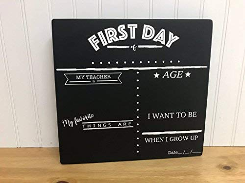Adonis554Dan Reversible First and Last Day of School Chalkboard First Day of School Chalkboard Last Day of School Chalkboard 28.6 x 30.5 cm