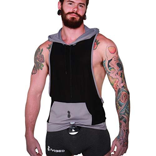 Men S Tank Top Sleeveless Hoodie Athletic Rave Festival Clothing Edm