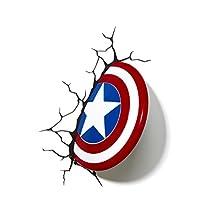 3D Light FX Marvel Captain America Shield 3D-Deco LED Wall Light