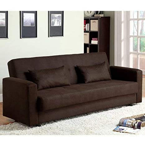 Amazon.com: baileyton Luz Espresso Acabado sofá cama futón ...
