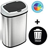 SensorCan 13 Gallon Automatic Touchless Sensor Kitchen Can with 1 Waterproof Reusable
