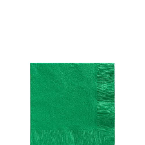Big Party Pack Festive Green Beverage Napkins |