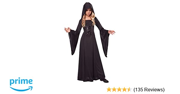 Amazon.com: California Costumes Hooded Robe Costume, One Color, 6-8: Toys & Games