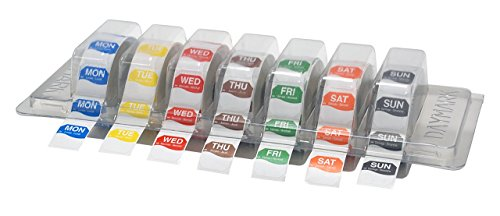 DayMark Day of the Week 1'' Octagon Removable Labels, Monday-Sunday, Label Dispenser Included (7,000 labels) by DayMark Safety Systems