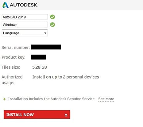 autocad serial number and product key 2019