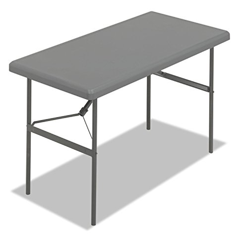 Iceberg 65207 IndestrucTables Too 1200 Series Resin Folding Table, 48w x 24d x 29h, Charcoal