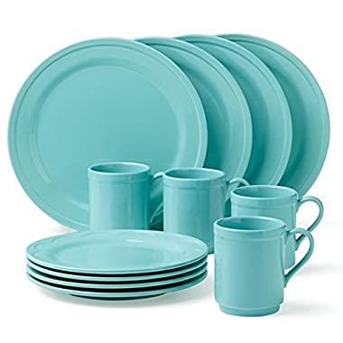 KSNY All in Good Taste Scallop Dw Set, Turquoise, 12 Piece