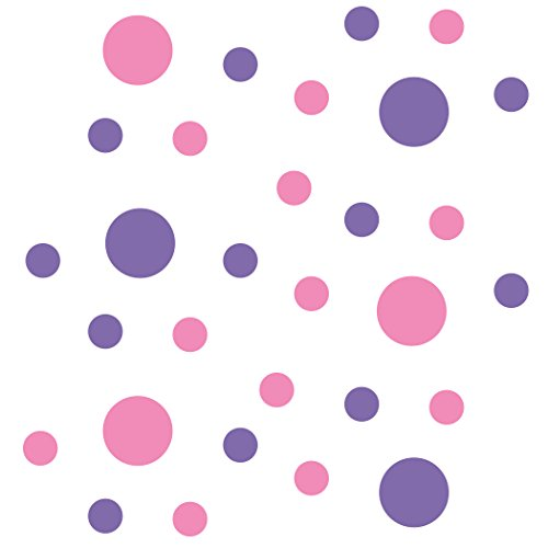 - Pink/Lavender Vinyl Wall Stickers - 2