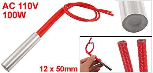 eDealMax Doble alambre de Plomo herramienta de cartucho calentador de calefacción, DE 12 mm x 50 mm, AC, 110V, 100W