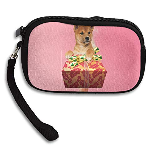 Cute Christmas Purse Portable Bag Printing Deluxe Small Present Receiving Dog rA5xwq6Rr