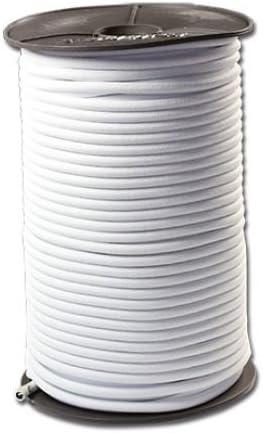 Planenseil Anh/änger Plane PKW elastic cord bungee Spannseil Gummiseil f Gummileine Gummiseil | Gummikordel Weiss Gummischnur Spannseil Planenseil Gummileine Seil elastisches Seil 100 Meter Expanderseil PE-Ummantelt 6 mm
