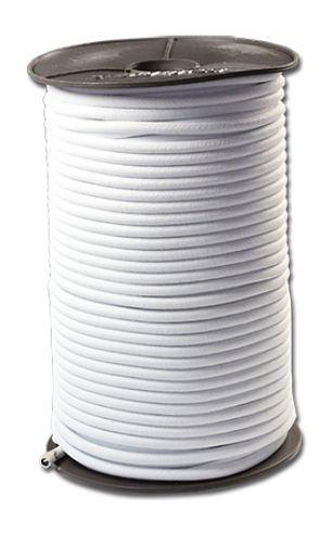 100 Meter Expanderseil PE-Ummantelt 4 mm - Weiss | Spannseil Planenseil elastisches Seil Plane | Gummiseil Gummileine Planenseil Seil Leine Spanner f Plane Haken | Gummispannseil | Planenseil | Hakenseil | Gummileine Spannseil Planenseil Seil Plane Netz Gu