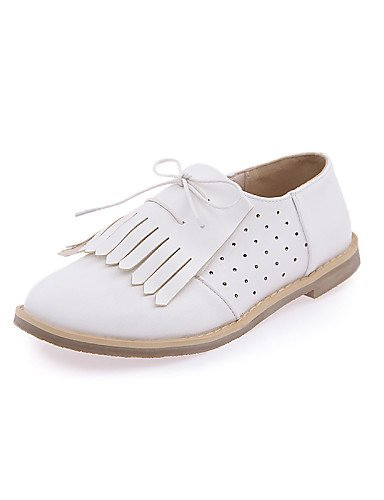 Plano White Uk8 Morado De us8 Casual Azul Oxfords Mujer Cn39 Eu39 5 Purple Uk6 Tacón Punta 5 us10 Njx Blanco Cn43 Eu42 Semicuero Zapatos Redonda TRPwII