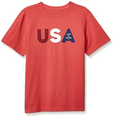 - Life is Good Boys Crusher Tee USA Life is Good, Americana Red, Medium