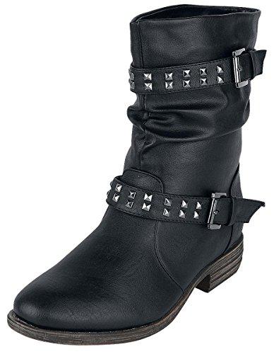 Brandit Botas Mujer Bota De Motero Tachuelas Noir - Noir