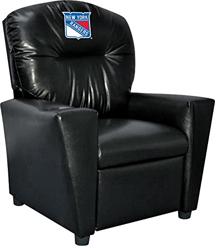 Imperial Officially Licensed NHL Furniture: Youth Faux Leather Recliner, New York Rangers