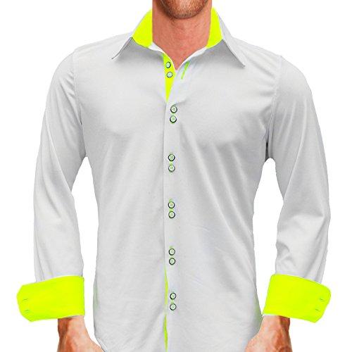2eda57794640 Anton Alexander Active Collection Men's Designer Dress Shirt Made In USA  -XS Modern Fit-